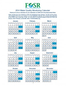 2014 Monitoring Calendar